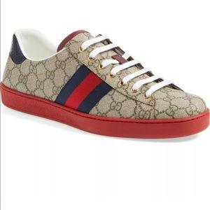 💥Men's GUCCI New Ace Webbed Low Top Sneaker  💥